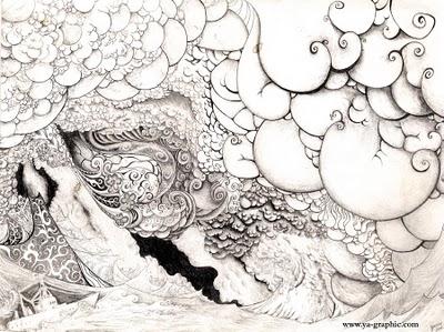 Dessin De Tempete De Mer Avec Effets Graphiques Artsgraphiques