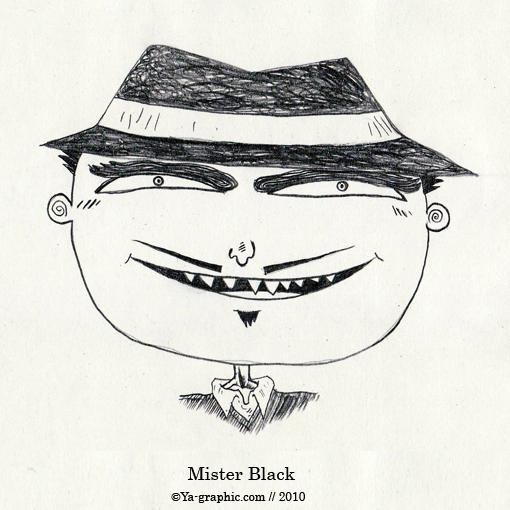 Mister Black l'homme au chapeau noir (black hat)