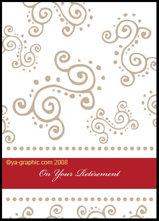 cartes de voeux pour la retraite avec motifs graphiques artsgraphiques. Black Bedroom Furniture Sets. Home Design Ideas