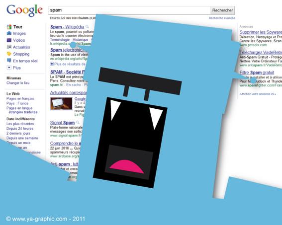 Google contre le spam. Robot explorateur.