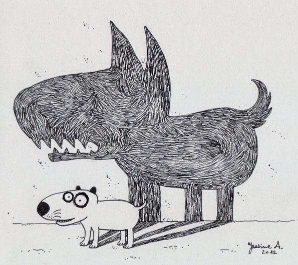 Un chien de garde pour dissuader