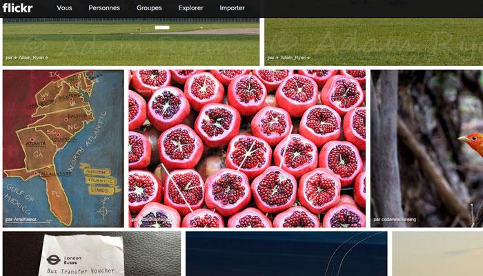 Ma photo dans Explorer de Flickr