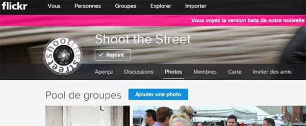 Groupes Flickr version beta