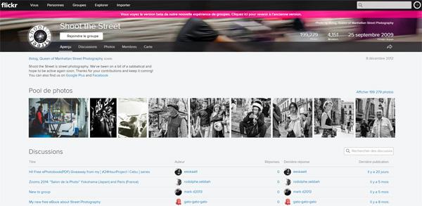 Groupes Flickr : l'aperçu